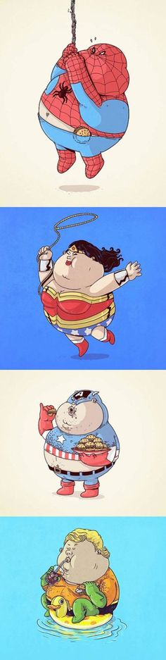 Si les supers héros étaient gros ; )