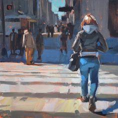 Carol Marine's Painting a Day: Warm Crossing