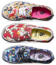 """Disney Vans - I want the top one!!! It would go so perfectly with my """"PrincessStrong"""" flannel button down!"""