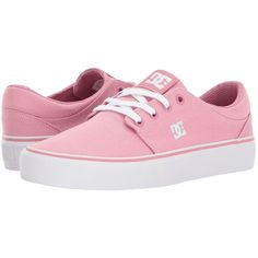DC Trase TX (Rose) Women's Skate Shoes ($45) ❤ liked on Polyvore featuring shoes, print shoes, dc shoes, low profile shoes, treads shoes and dc shoes footwear