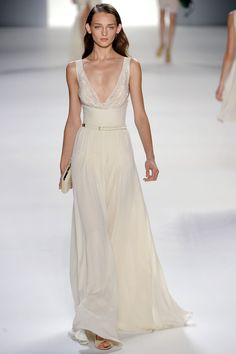 Elie Saab RTW SS 2012  I think this dress would look nice with a purple ombre at the bottom.