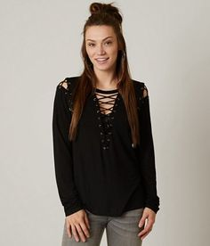Gilded Intent Lace-Up Top - Women's Shirts/Blouses | Buckle