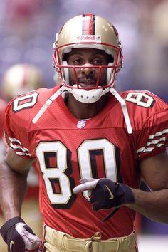 Jerry Rice, San Francisco 49ers.  ~Via Greg Speck