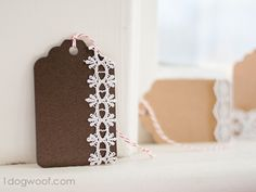 Lace Gift Tags  at www.1dogwoof.com