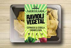 Packaging. Ravioli vegetal. Pasta joven :), marca tradicional.Proyecto packaging Vissi.