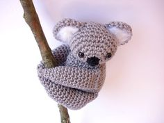 Koala stuffed animal Koala plush Crochet Koala by Crochetonatree