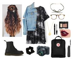 """Adventures in Rain "" by thankyouforbreathing on Polyvore featuring Dr. Martens, Fjällräven, Mary Kay, Kate Spade, Topshop, Linda Farrow and NARS Cosmetics"
