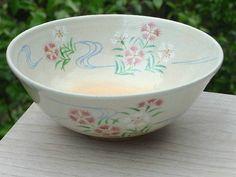 清水焼京焼の窯元小倉亨作の夏茶碗 撫子