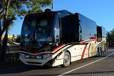 2014 Prevost H3-45 VIP Elegant Lady by Liberty Coach at the 2014 Florida RV SuperShow held at the Florida State Fairgrounds in Tampa. Check out RV Tire Pressure Monitors