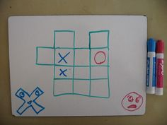 Tic Tac Grow puzzle (mark a box, then add a box to the game board. Goal is to get 4 in a row)