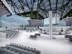 Karl Lagerfeld transformó el Grand Palais de Francia en toda una terminal de aeropuerto Chanel