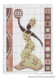 pays - country - afrique - point de croix - cross stitch - Blog : http://broderiemimie44.canalblog.com/