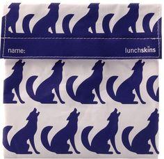 reusable sandwich bags - navy wolf sandwich