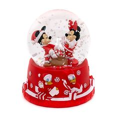 Mickey and Minnie Mouse Snow Globe | Christmas!!