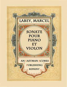 Labey, Marcel : Sonate pour piano et violon