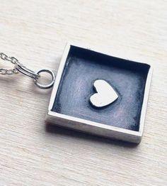 Heart Sterling Silver Necklace #streetstyle #jewelry #heart