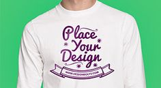 Free White Long Sleeves T-shirt Mock-up Photoshop PSD File | Front