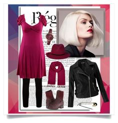 """""""Red-violet (contest)"""" by whimsical-angst ❤ liked on Polyvore featuring Anja, Paige Denim, taos Footwear, EAST, Miss Selfridge, FOSSIL, CasualChic, contestentry, fashionset and colorchallenge"""