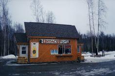 ONE OF MANY DRIVE THRU COFFEE SHOPS IN ALASKA.