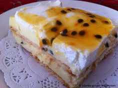 In en om die huis: GRENADELLA YSKASTERT Guava Desserts, Summer Desserts, Sweet Desserts, No Bake Desserts, Delicious Desserts, Tart Recipes, Cheesecake Recipes, Sweet Recipes, Fridge Cake