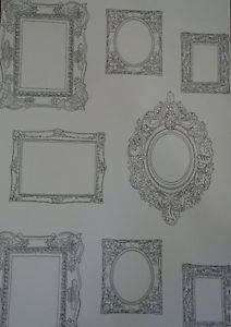 Quirky Fun Shabby Chic Photo Frame Frames Black and White Wallpaper Low P&P | eBay