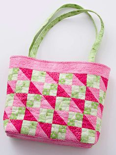 Pink patchwork bag