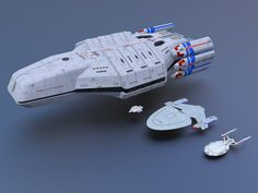 Federation Carrier USS Valkyrie Size Comparison 1 by calamitySi on DeviantArt