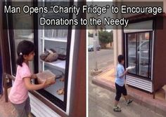 A man in Saudi Arabia recently installed a refrigerator outside of his house where people can donate food for their poverty stricken neighbors