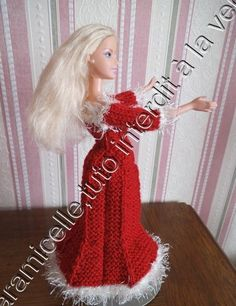 tuto gratuit Barbie : robe de Noël