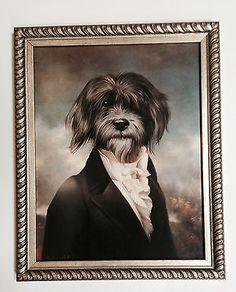 Thierry Poncelet Gavroche funny Dressed Dog Framed Art Print, 46 x 36cm