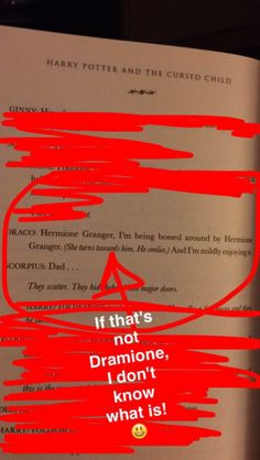 Cursed Child is a shippers dream. Romione, Dramione, Drarry, Scorose, Scorbus. This is one of the main reasons it just comes across as a mediocre fanfic. Although, it made my Romione/Drarry heart happy in some places.