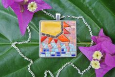 St John Sun and Waves by MosaicJewelrybyCrys on Etsy, $40.00