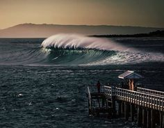 King tide 'threatens' Point Lonsdale Pier, Victoria (image by Pete James Photography) Surf City, Vic Australia, Morning Images, Ocean Waves, Places To Go, Waterfall, Surfing, Beach, Instagram Posts