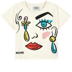 Moschino - Short T-shirt with a print - 211915