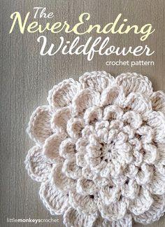The NeverEnding Wildflower Crochet Pattern   Free Crochet Pattern by Little Monkeys Crochet (www.littlemonkeyscrochet.com) #CrochetPatterns