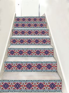 15 Turkish/Iznik Stair riser decal   10 strips with by Bleucoin