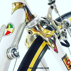 Steel Vintage Bikes — Pelizzoli gold plated vintage road bike from...