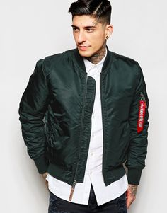 Alpha Industries Bomber Jacket with Insulation Slim Fit