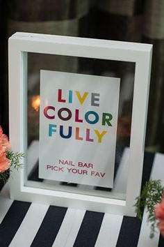 A colorful and beauty-inspired Kate Spade bridal shower // photos by Julie Anne Wedding Photography: http://www.julieannephoto.com || see more on http://www.artfullywed.com