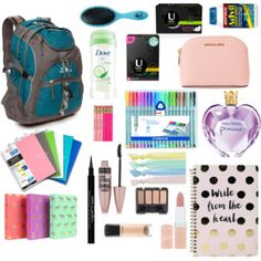 Designer Clothes, Shoes & Bags for Women Backpack Essentials, School Essentials, Travel Essentials, Disneyland Backpack, Disneyland Outfits, Backpack Organization, Study Organization, Back To School, School Stuff