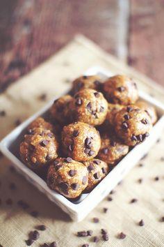 No Bake Protein Cookie Dough Balls or Bars