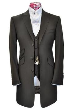 The Hollingsworth Black Frock Coat Suit - William Hunt Savile Row  - 1