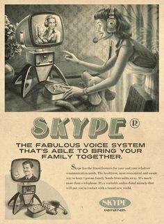 Vintage Skype Ad