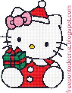 Dibujos Punto de Cruz Gratis: Hello Kitty Punto de cruz - Cross Stitch