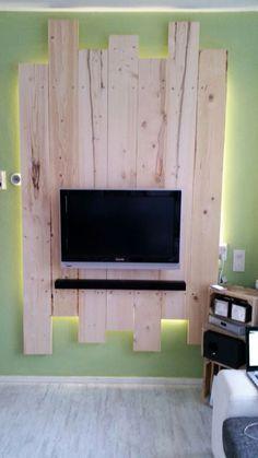 Tv wandkast van steigerhout