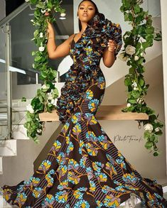African Formal Dress, African Print Wedding Dress, Latest African Fashion Dresses, African Dresses For Women, African Attire, Best African Dress Designs, African Print Clothing, African Print Fashion, South African Traditional Dresses
