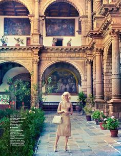 Vivienne Westwood Gold Label Victoria Dress can be seen in the 'Cool as Cusco' shoot in the April 2014 issue of Tatler Magazine