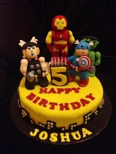 Avengers Cake Logan birthday bedroom Pinterest Cakes