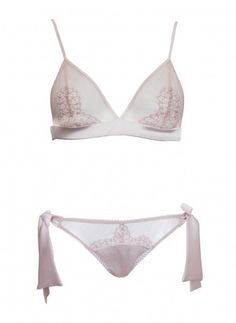 Allure Silk and Lace Boudoir Bra and Bow Tie Brief