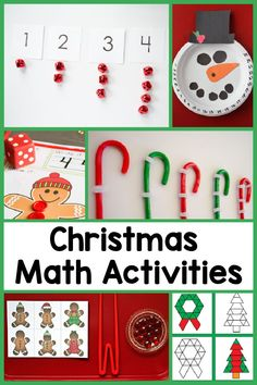 Fun Christmas math activities for preschool! Keep the learning going this December with these great number activities.